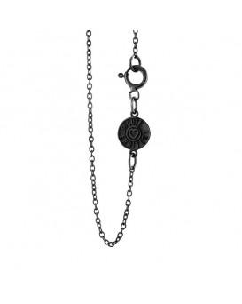 14K Gold - Black Rhodium Chain