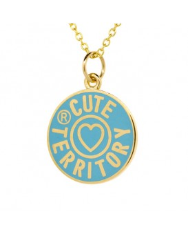 French Enamel Cute Territory Charm in Signature Turquoise
