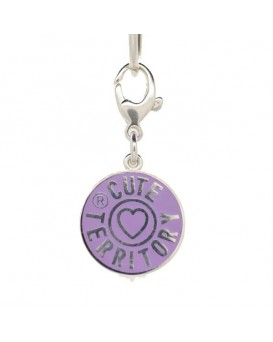 French Enamel Cute Territory Pet Tag in Lavender