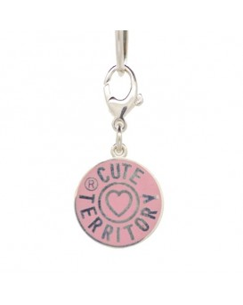 French Enamel Cute Territory Pet Tag in Powder Pink