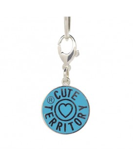 French Enamel Cute Territory Pet Tag in Signature Turquoise