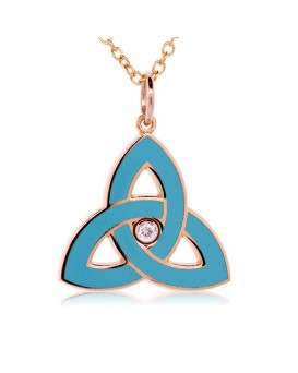 French Enamel Rose Gold Trinity Charm